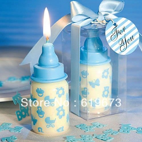 milk bottle candle favor for baby shower set of 100 pcs wholesale