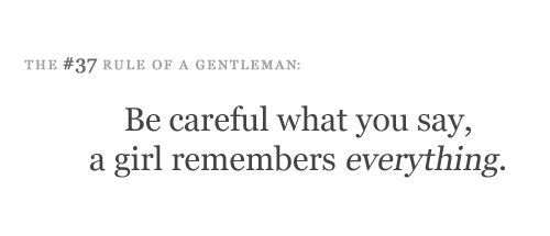 Rules for a Gentleman, #37