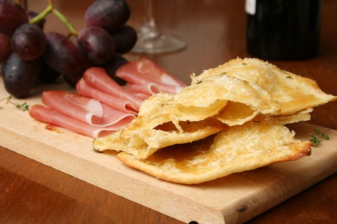 flatbreads with honey, sea salt, and thyme by crumbly cookie