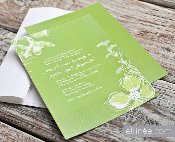 Enchanted Garden Wedding Invitation Wedding Pinterest