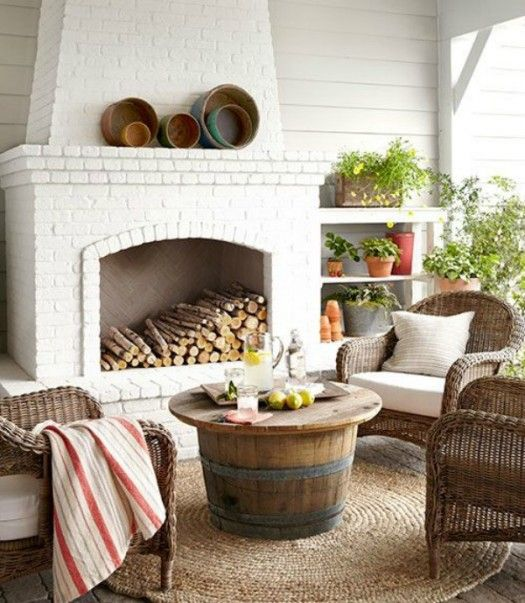 Love this outdoor living space?  I've found five DIY ideas to get you started on creating (and styling) the outdoor room of your dreams.  Check them out at Infarrantly Creative.