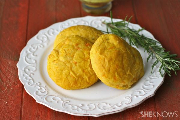... for the holidays!! Rosemary-Sweet Potato Rolls with Curried Butter