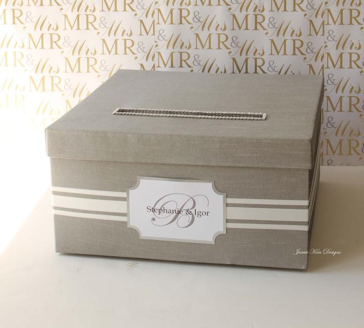 Elegant Wedding Gift Card Box : Elegant Wedding Card Box Money Box Card Holder- Custom Made to Order