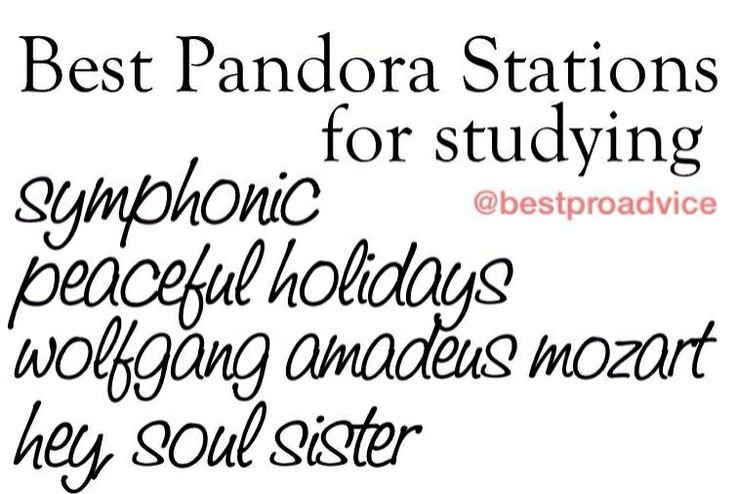 Pandora stations for studying pandora pinterest