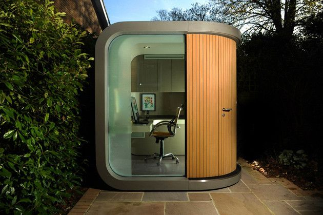 Tiny Backyard Office : Small prefabs as backyard offices Its the instant office ? or as