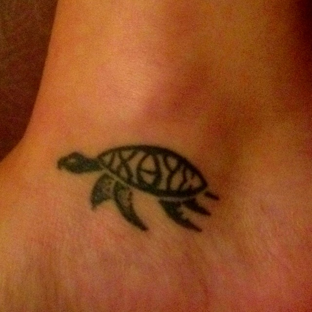 Ichthus turtle tattoo