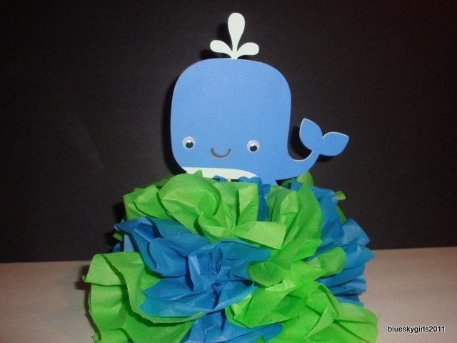 whale centerpiece baby shower crafts pinterest