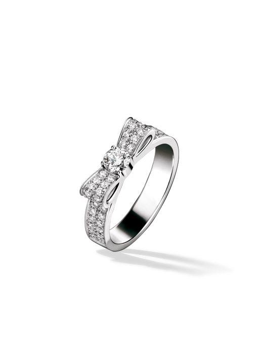 beautiful chanel bow engagement ring wedding ideas pinterest