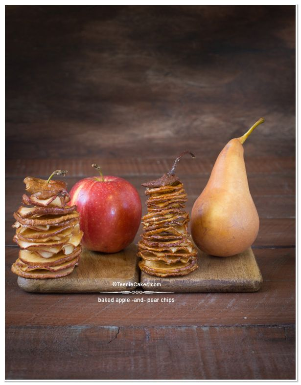 Apple Chips and Pear Chips | TeenieCakes.com #foodphotography #apples ...
