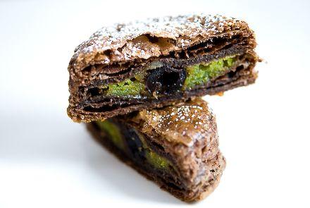 Chocolate Galette w/ Pistachio Frangipane & Griotte Cherry (Chocolate ...