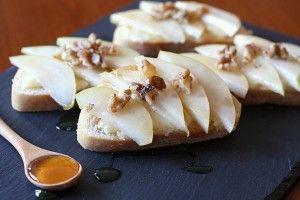pear-brie-honey-bruschetta | Favorite Recipes | Pinterest