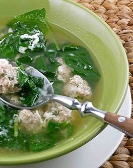 ... -up. Italian Wedding Soup with Turkey Meatballs | Cookin' Canuck