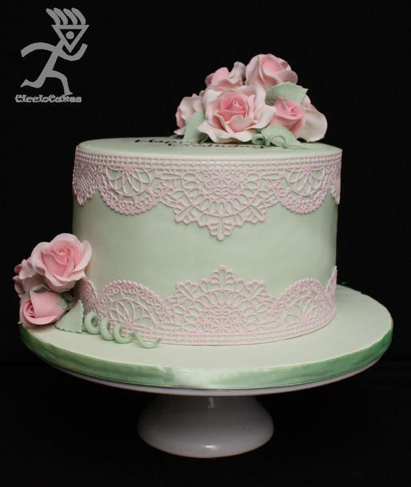 Cake Decorating With Edible Lace : Edible Lace Beautiful cakes Pinterest