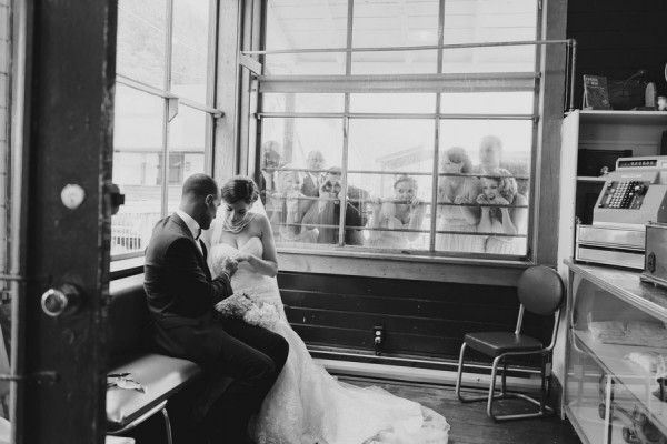 I absolutely adore this wedding location. And the photos are gorgeous. I think this may be my favorite.