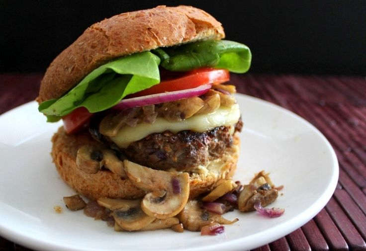 Double Mushroom Burger | Burgers, Burgers & Burgers | Pinterest