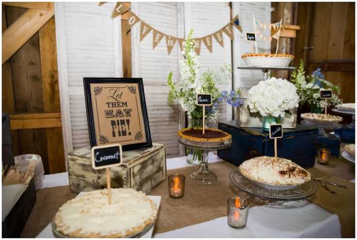 Pie Bar Rustic Reception Marriage Meet And