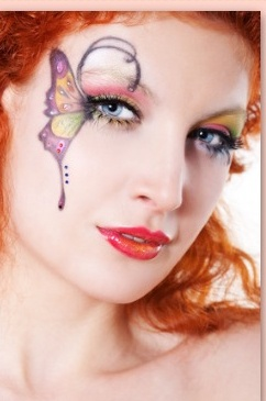 Theatre Makeup on Fairy   Theatre Makeup   X