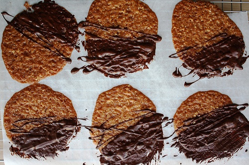 almond-oat lace cookies | food | Pinterest