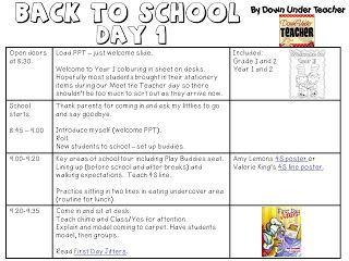 back to school lesson plans