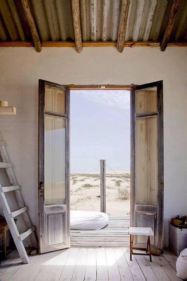 Beach cottage uruguay interior design pinterest for Beach hut designs interior