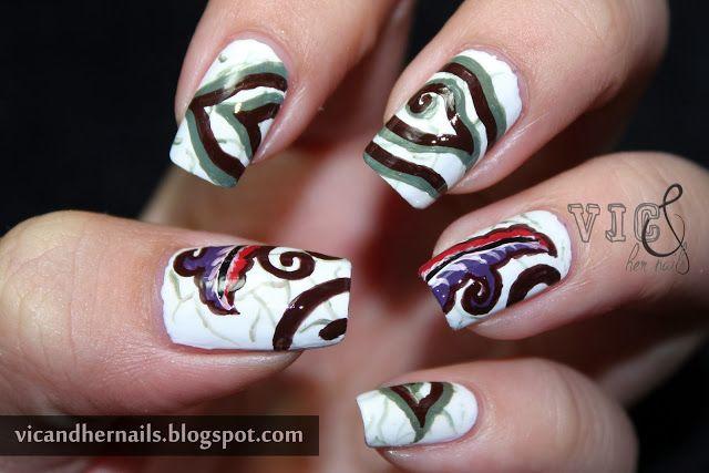 Vic and Her Nails: Our Cultural Heritage! (Batik - Mega Mendung)
