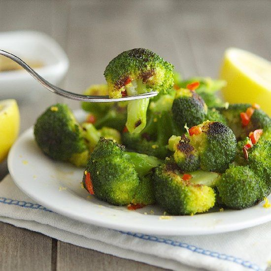 Beet's Charred Broccoli with Garlic, Chili Pepper & Lemon Olive Oil ...