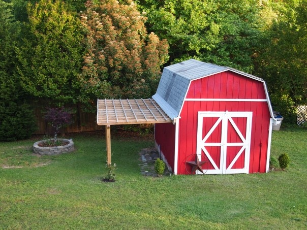 Red Barn With Porch Miscellaneous Pinterest
