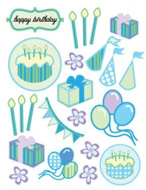 free printable scrapbook embellishments | just b.CAUSE