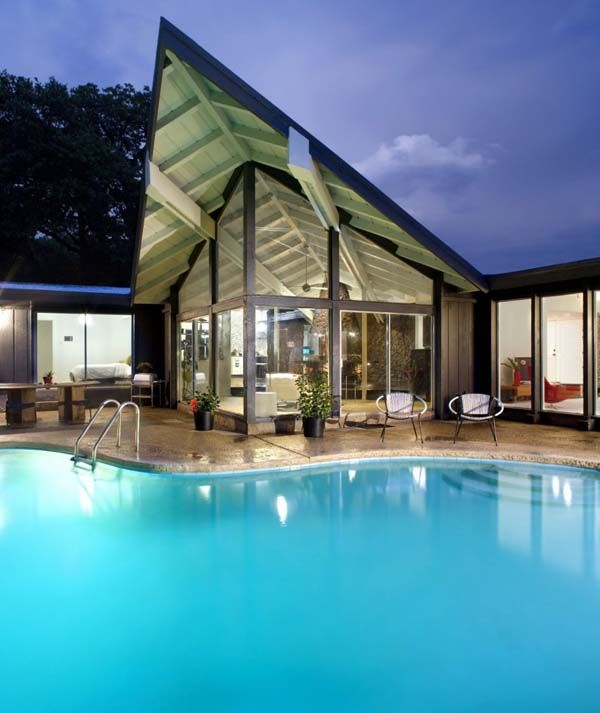 Mid century modern home austin texas exterior home inspiration p Home furniture rental austin texas