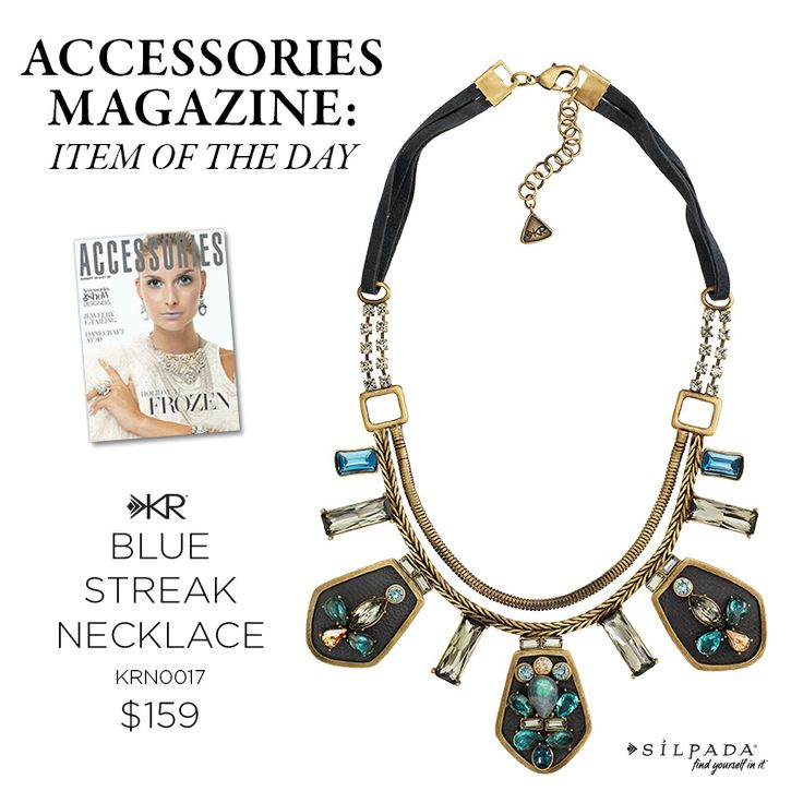 @accessoriesmag names Silpada's Blue Streak Necklace the Item of the Day! Click to shop. #Silpada #WomensFashion #jewelry