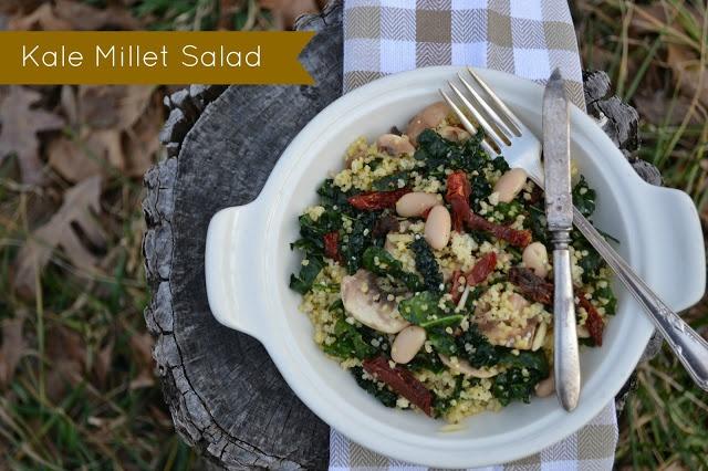 Our Neck of the Woods: Kale Millet Salad   Gr8 Grainz   Pinterest