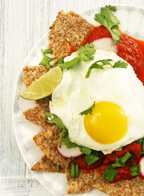 Chilaquiles with Fried Eggs from our newsletter -- with red chile ...