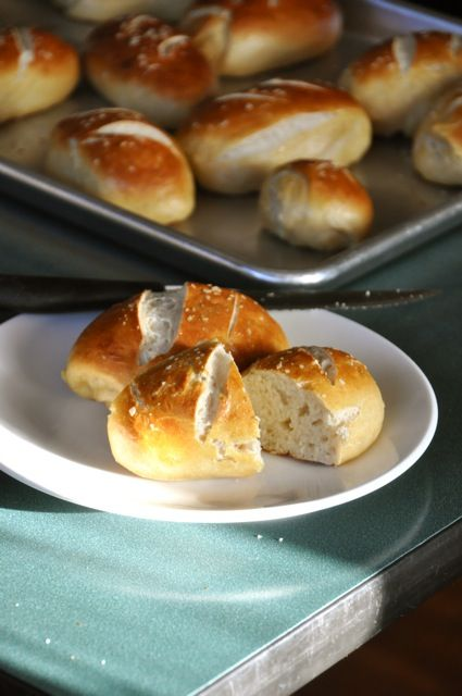 Homemade Pretzel Rolls - don't think I will be trying these again ...