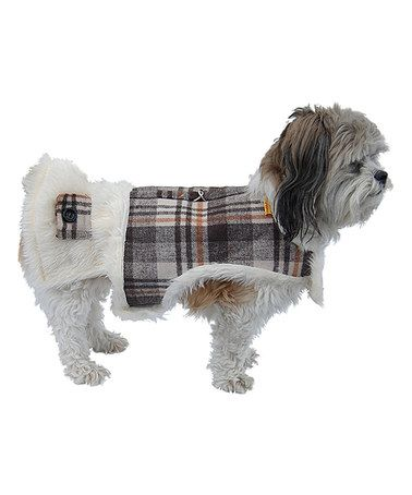 Look what I found on #zulily! Brown Plaid Faux Fur-Lined Dog Harness by Anima #zulilyfinds