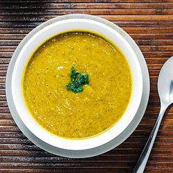 Kale soup with acorn squash HealthyAperture.com