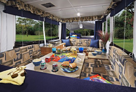 Interior pop up camper camping pinterest for Pop up camper interior designs