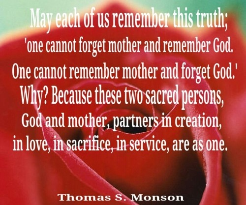 Lds Mothers Day Quotes Quotesgram
