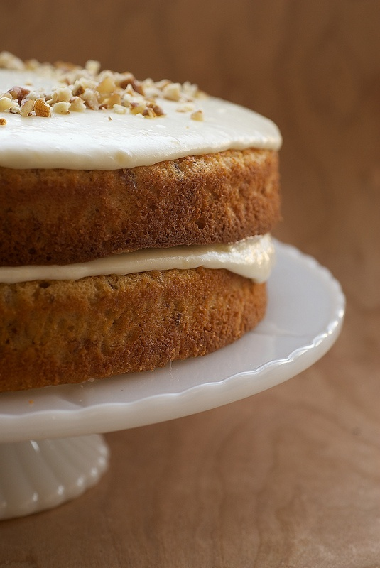 Pecan Layer Cake with Banana Icing | Gourmandise | Pinterest