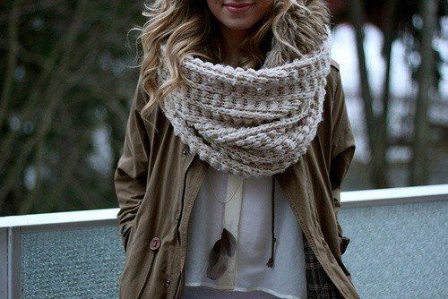 Oversized Knit Scarf  fashion empire  Pinterest Fashion Scarves To Knit