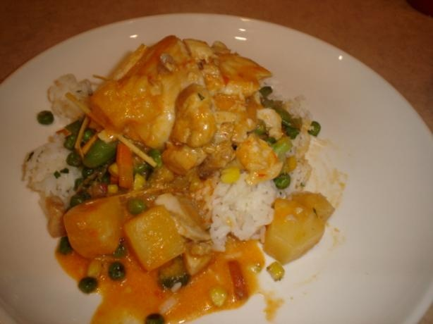Chicken With Potatoes, Peas & Coconut-Curry Sauce Recipes — Dishmaps