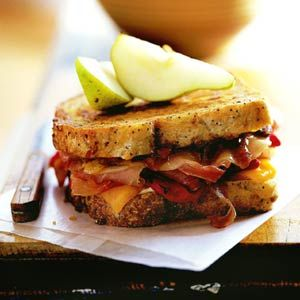 Provolone and Ham Melt. This ham and cheese sandwich has sweet fruit ...