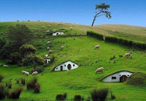 23 Extraordinary And  Unique  Places You should Visit!. Hobbit Village, Newzealand