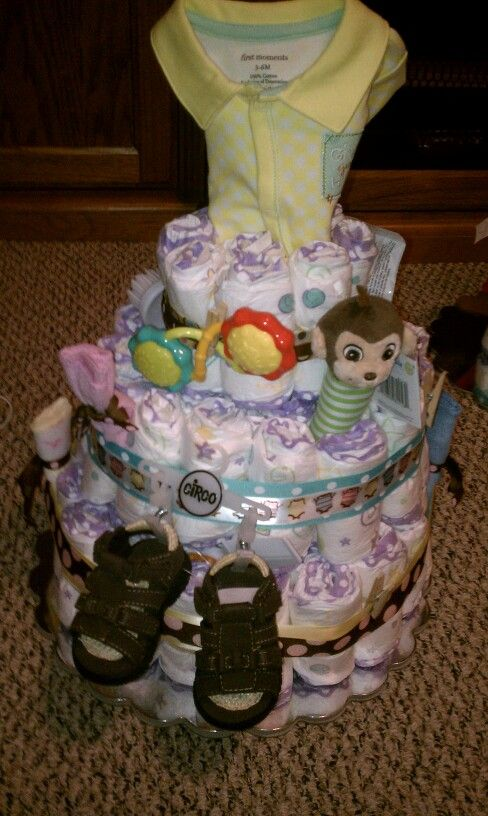 Baby Gift Ideas Using Diapers : Baby shower food ideas using diapers
