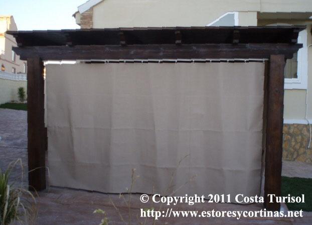 Cortina de lona cortinas de lona pinterest - Cortinas de loneta ...