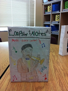 Biography Cereal Box Project - 4th Grade