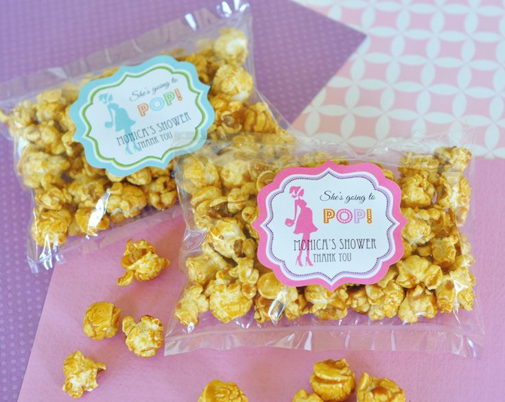 caramel popcorn baby shower favors baby shower ideas pinter