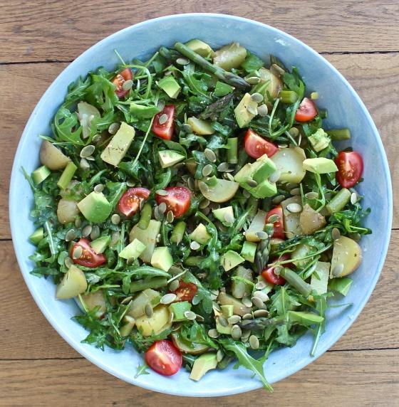Asparagus, new potato & avocado salad   deliciouslyella.com
