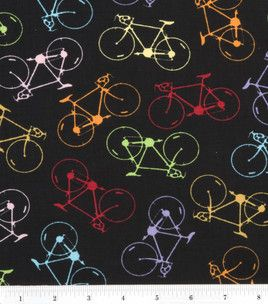 Bicycle Bicycle Quilt Fabric