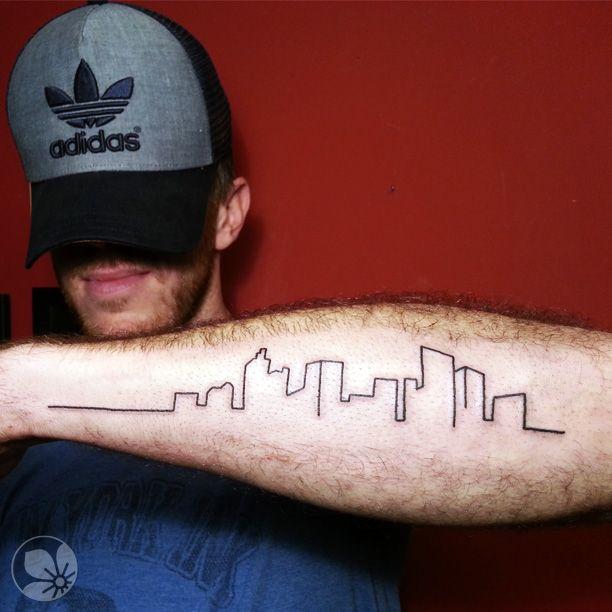 for Cleveland skyline tattoo