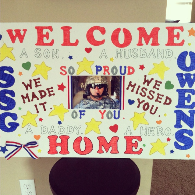 similiar welcome home soldier sign ideas keywords